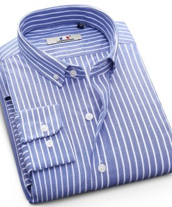 Mens Long Sleeve Shirt Business Casual