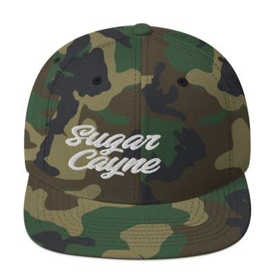 sugar cayne camo snap back