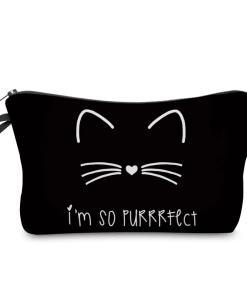 Cat Themed Cosmetic Makeup Bag