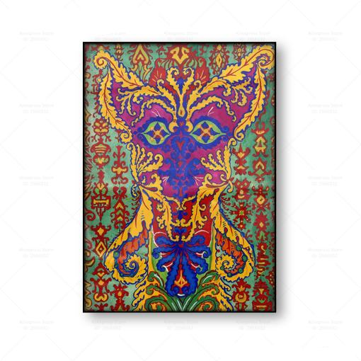 Louis Wain Giclee Canvas Psychedelic Cat Art Print
