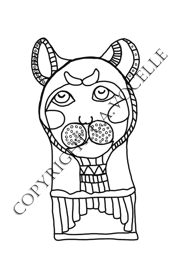 10-Cat Mummy Face-copyrighted