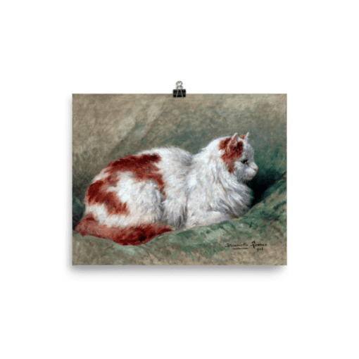 Henriette Ronner-Knip: Cat Sitting on Pillow 1904, Cat Art Poster