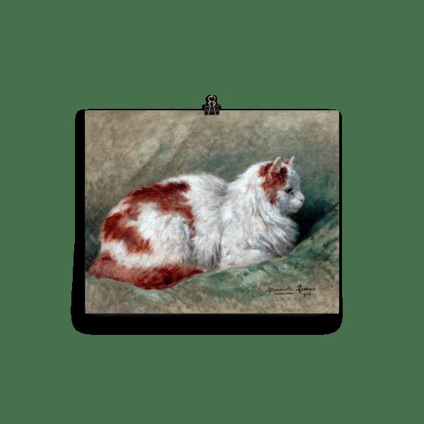 Henriette Ronner-Knip: Cat Sitting on Pillow 1904, Cat Art Poster, 16×20