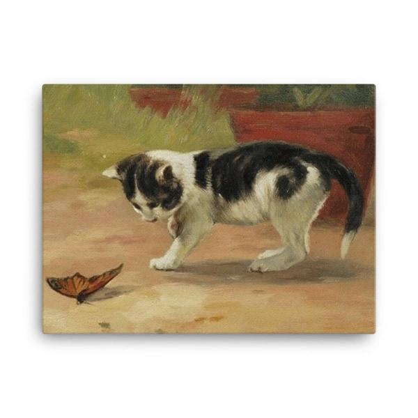 John Henry Dolph: An Easy Target, Before 1903, Canvas Cat Art Print, 24×36