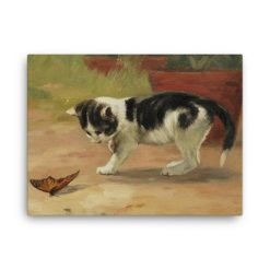 John Henry Dolph: An Easy Target, Before 1903, Canvas Cat Art Print