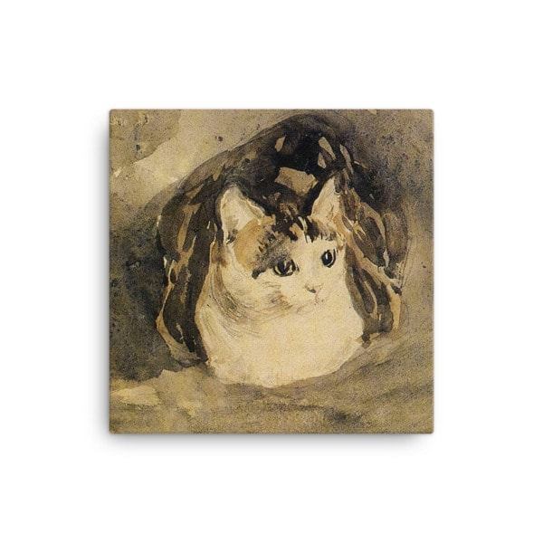 Gwen John: The Cat, 1904-08, Canvas Cat Art Print, 12×12