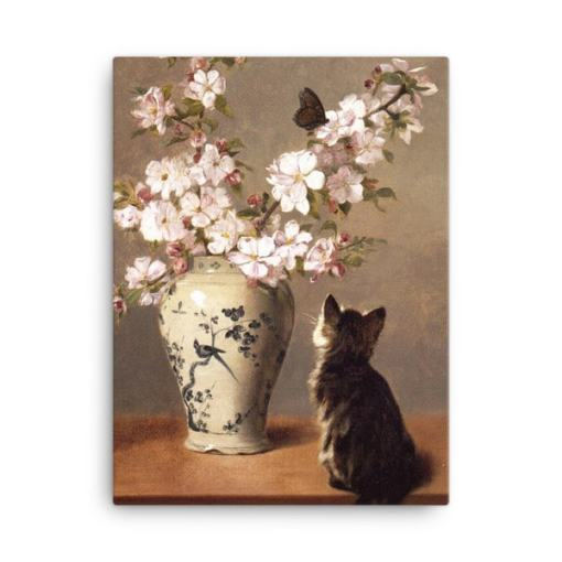 John Henry Dolph: The Butterfly, 1870, Canvas Cat Art Print