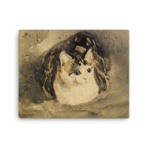 Gwen John: The Cat, 1904-08, Canvas Cat Art Print