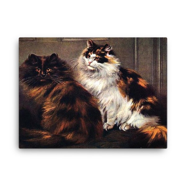 Tortoiseshell Persian cats, after a painting by William Luker, 18×24