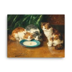 Alfred Brunel de Neuville: What's that then?, Before 1941, Canvas Cat Art Print 24x36