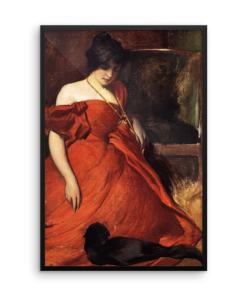 John White Alexander: Black and Red, 19th Century, Framed Cat Art Poster at The Great Cat Store