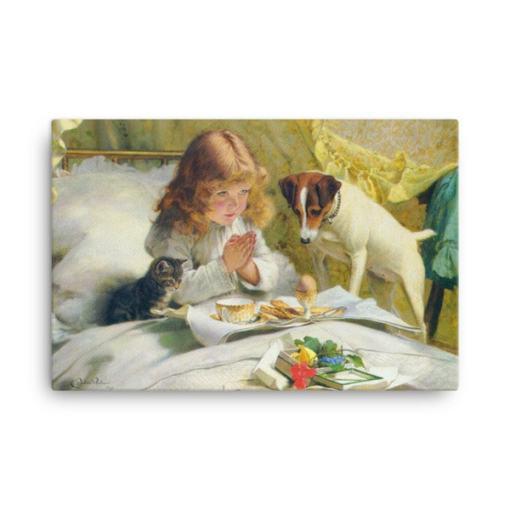 Charles Burton-Barber: Suspense, 1894, Canvas Cat Art Print