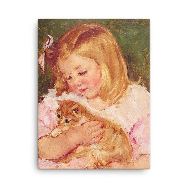 Mary Cassatt Cat Art Print, 24×36