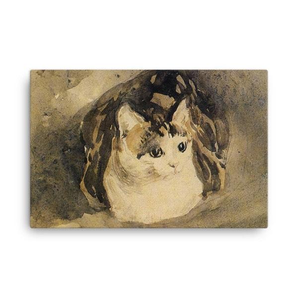 Gwen John: The Cat, 1904-08, Canvas Cat Art Print, 16×20