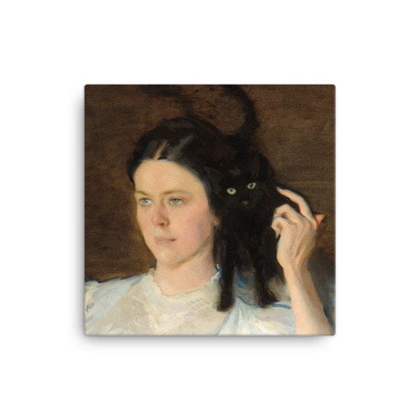 Cecilia Beaux: Sita and Sarita, 1893, canvas print reproduction, 12×12