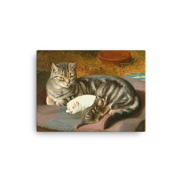 Horatio Henry Couldery: The Unexpected Guest, 1894, Canvas Cat Art Print, 12×16