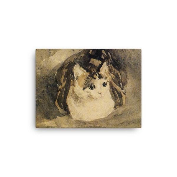Gwen John: The Cat, 1904-08, Canvas Cat Art Print, 12×16