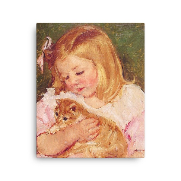 Mary Cassatt Cat Art Print 16×20
