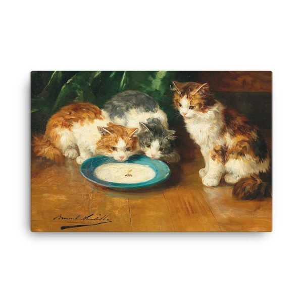 Alfred Brunel de Neuville: What's that then?, Before 1941, Canvas Cat Art Print, 18×24
