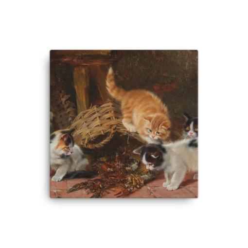 Julius Adam: Kittens and a Lobster, Before 1913, Canvas Cat Art Print at The Great Cat Store