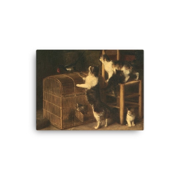 Louis Eugene Lambert: Invasion, 19th century, Canvas Cat Art Print, 12×16
