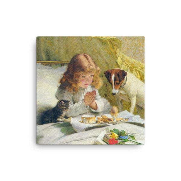 Charles Burton-Barber: Suspense, 1894, Canvas Cat Art Print, 12×12