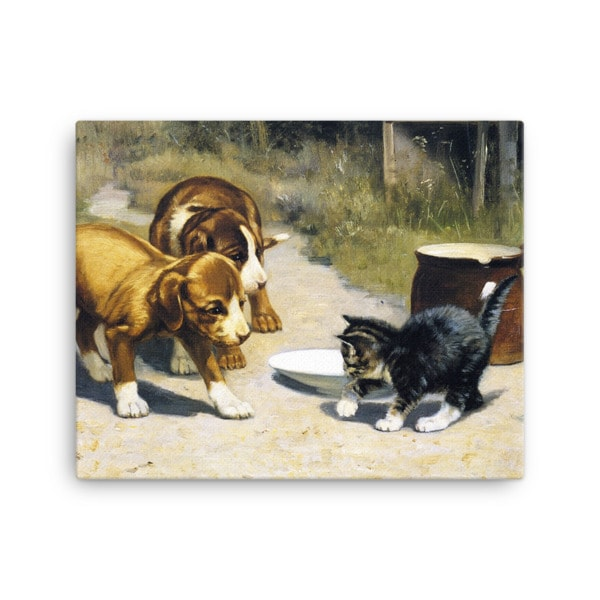 John Henry Dolph: Courage, 19th Century, Canvas Cat Art Print,16×20