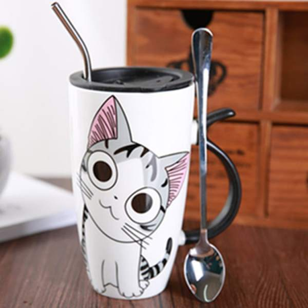 Cute Large Cat Ceramic Coffee Mug With Lid 2416-kjwuij.jpg
