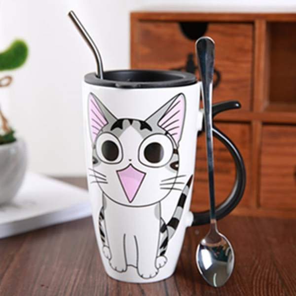 Cute Large Cat Ceramic Coffee Mug With Lid 2418-xinfs2.jpg