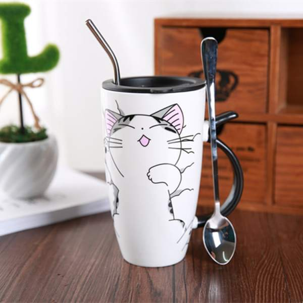 Cute Large Cat Ceramic Coffee Mug With Lid 2419-essy7j.jpg