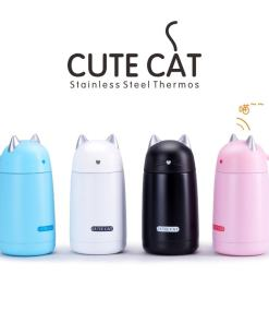 Cute Cat Stainless Steel Kids Vacuum Thermos