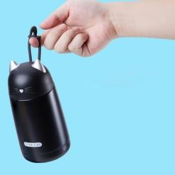 Cute Cat Stainless Steel Kids Vacuum Thermos