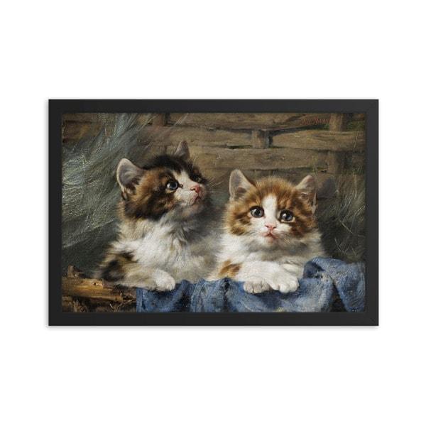 Julius Adam: Two Kittens, 1913, 12×18