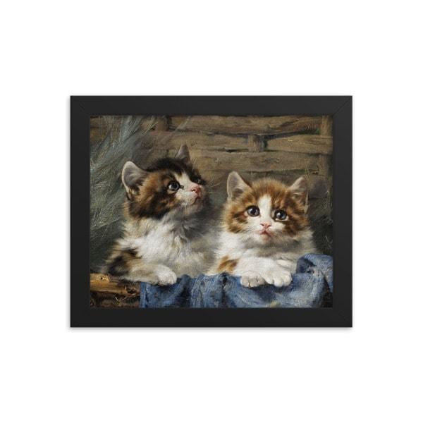 Julius Adam: Two Kittens, 1913, 8×10