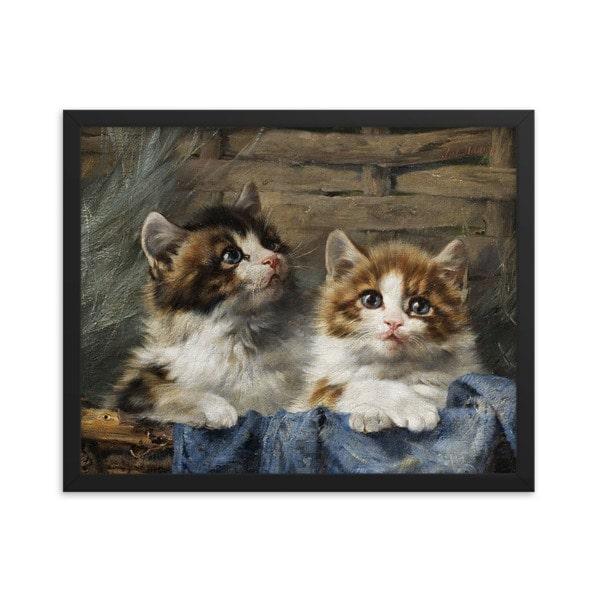 Julius Adam: Two Kittens, 1913, 16×20