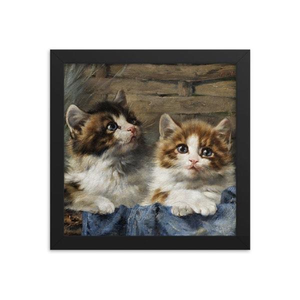 Julius Adam: Two Kittens, 1913, 16×16