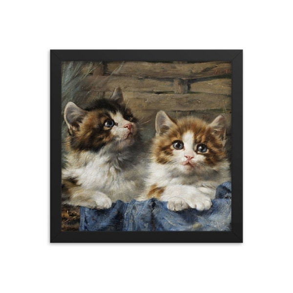 Julius Adam: Two Kittens, 1913, 14×14