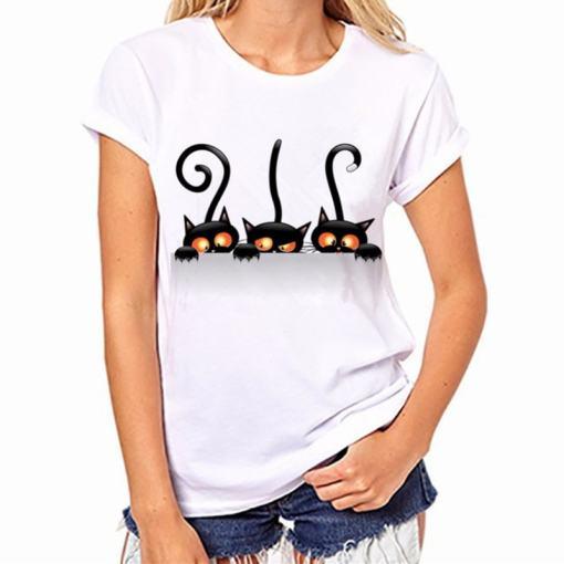 Black Cat, Halloween Variety Women's T-Shirt - Womens T Shirt 003
