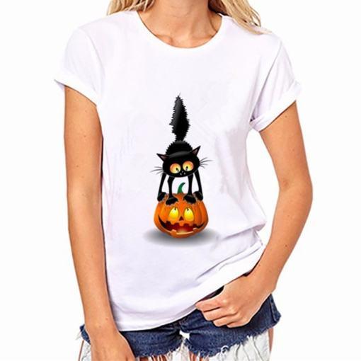 Black Cat, Halloween Variety Women's T-Shirt - Womens T Shirt 004