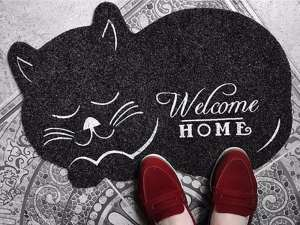 Cat Shaped Anti-Slip Floor-Door Mat