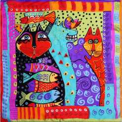 Cat Design 100% Silk Scarves Various Designs at The Great Cat Store