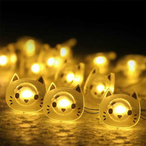 Cat Decorative String LED Holiday Lights