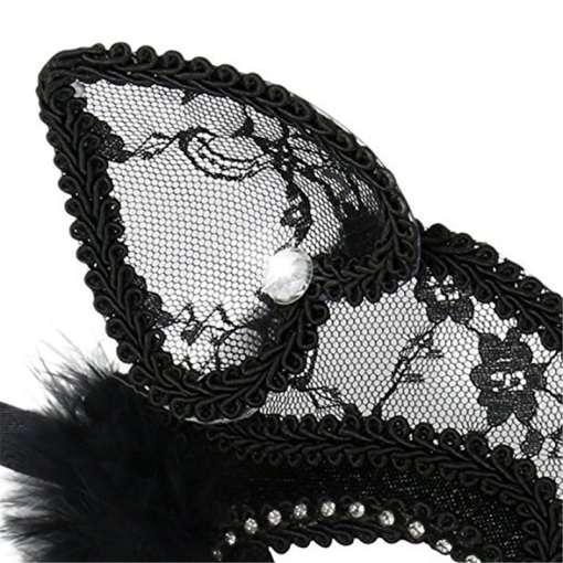 Sexy Lace Black Cat Eye Masquerade Halloween Mask