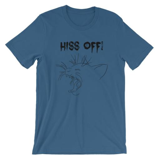Hiss Off Short-Sleeve Unisex T-Shirt at The Great Cat Store