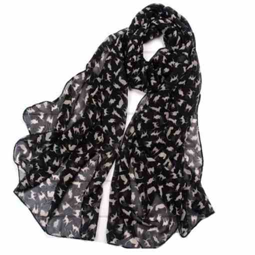 Chiffon Cat Design Scarf at The Great Cat Store