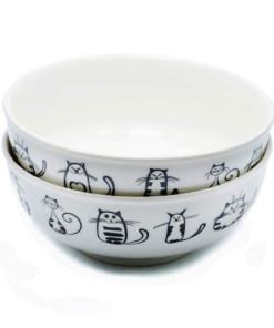 Cute Ceramic Cat Designed Dinner Dish Set at The Great Cat Store