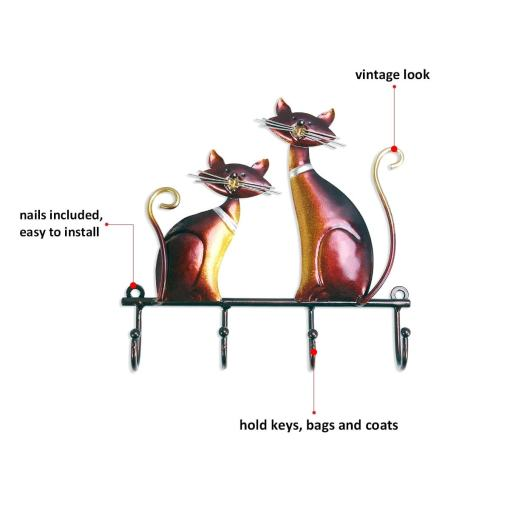 Cat Wall Mounted Coat Keys Hanger