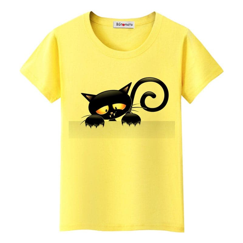 Elegant Black Cat T-Shirt