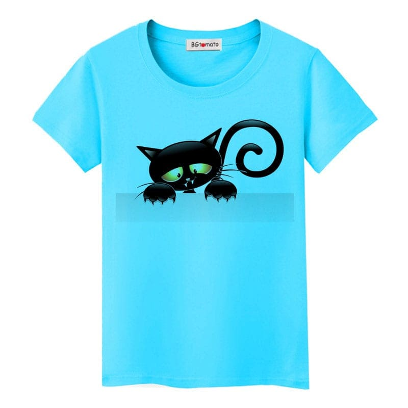 Elegant Black Cat T-Shirt