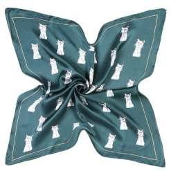 Square Cat Design Scarf Neckerchief